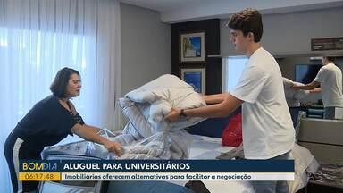 Aluguel para universitários - Imobiliárias oferecem alternativas para facilitar a negociação.