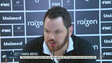 XV de Piracicaba supera série de lesões, mas mira reforços para a sequência da temporada - Técnico Tarcísio Pugliese fala das dificuldades do XV nesse momento da temporada.