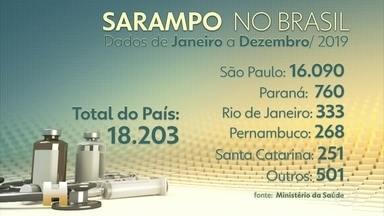 Bebê é o primeiro morto no RJ por sarampo após 20 anos sem registro de mortes no estado - São Paulo foi o estado com o maior´número de notificações por sarampo no Brasil em 2019, e das 15 mortes registradas no país por causa da doença, 14 foram no estado.