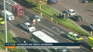 Homem morre após bater de frente com o ônibus na BR-277 - Ele tinha 47 anos e seguia sentido Curitiba.