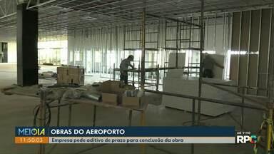 Obras do aeroporto de Cascavel tem nova data para ser finalizada - Empresa pediu novo aditivo de prazo e obras devem ser entreguem até o fim do semestre.
