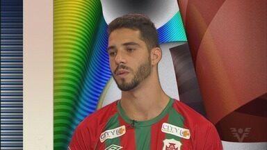 Kalil é um dos destaques da Portuguesa Santista nesta temporada da A2 - Atacante tem dois gols marcados no campeonato até o momento. Ele foi um dos reforços da Briosa para 2020.