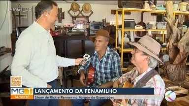 Dupla Rick e Renner abre programação de shows da Fenamilho em Patos de Minas - Neste fim de semana será realizado o lançamento oficial da festa.