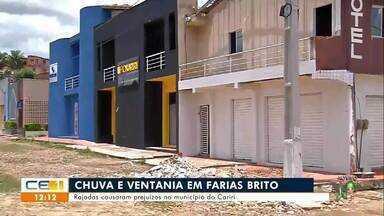 Rajadas causaram prejuízos em Farias Brito - Saiba mais no g1.com.br/ce
