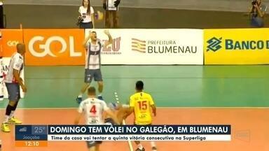 Time masculino de vôlei de Blumenau enfrenta o Sesc do Rio de Janeiro em casa - Time masculino de vôlei de Blumenau enfrenta o Sesc do Rio de Janeiro em casa