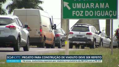 Projeto de viaduto na rotatória da BR-376 com a PR-317 tem falhas, diz secretário - A constatação foi feita pelo secretário de Infraestrutura e logística do Paraná