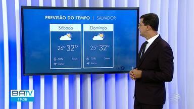 Confira a previsão do tempo para Salvador e interior do estado no final de semana - Em Salvador o céu fica com nuvens e pode ter chuva rápida em alguns pontos da cidade.