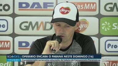 Operário encara o Paraná neste domingo (16) - Fantasma está na terceira colocação da tabela do Campeonato Paranaense.