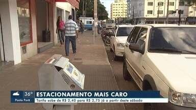 Tarifa do estacionamento de Campo Grande aumenta - As tarifas do estacionamento de Campo Grande vão aumentar a partir deste sábado