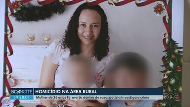 Mulher é morta dentro de casa, em Cascavel - O filho dela de 10 meses ficou ferido. A polícia investiga o crime.
