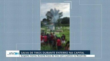Homem é morto em confronto com o Bope e enterro é marcado por tiros em cemitério - Homem é morto em confronto com o Bope e enterro é marcado por salva de tiros em Rio Branco