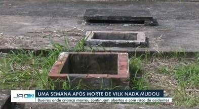 Estação de esgoto onde menino morreu continua sem qualquer isolamento - Estação de esgoto onde menino morreu continua sem qualquer isolamento