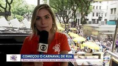 Bloco 'Casa Comigo' promete reunir milhares de foliões no Centro da capital - Começou oficialmente o carnaval de rua de São Paulo. Só neste sábado (15) são 123 blocos que vão desfilar pelas ruas da capital.
