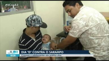 Sábado foi dia de vacinação contra sarampo no Pará - Público-alvo são crianças e adolescentes.