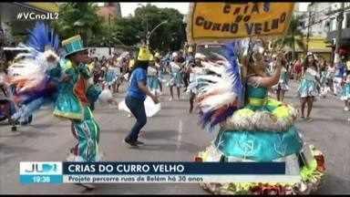 """Cerca de mil pessoas acompanham encanto das """"Crias do Curro Velho"""", em Belém - Manhã de sábado foi marcada pelo brilho, alegria e muito samba."""