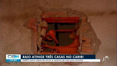 Raio atinge três casas em Juazeiro do Norte - Saiba mais em g1.com.br/ce