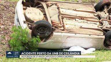 Sete pessoas morreram em acidentes entre sexta (14) e domingo (16) no DF - Iago da Silva Mota, de 27 anos, capotou o carro em via que liga Ceilândia a Samambaia. Ele ficou preso às ferragens e morreu.