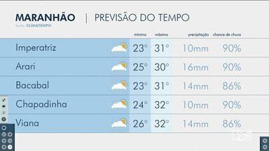 Veja as variações das temperaturas no Maranhão - Confira a previsão do tempo nesta segunda-feira (17) em São Luís e também no interior do estado.