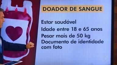 Confira o que é necessário para ser um doador de sangue - Bancos de sangue em Goiás estão com estoques baixos.