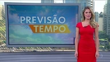 Veja a previsão do tempo para esta segunda-feira (17) em todo o país - Os termômetros passam dos 30 graus em quase todo o país. O risco de temporal é para o Rio Grande do Sul e Santa Catarina por causa de uma frente fria. Esse sistema vai provocar chuva em São Paulo na quarta-feira (19).