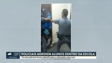 Afastados das ruas os seis policiais envolvidos em agressão dentro de escola - A diretora da escola, no Rio Pequeno, chamou a polícia porque um aluno se recusou a sair da sala de aula.