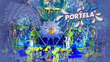 """Portela - Grupo Especial (RJ) - Íntegra do desfile de 23/02/2020 - Escola traz o enredo """"Guajupiá, terra sem males"""" e homenageia aos primeiros povos que habitaram o estado do Rio de Janeiro."""