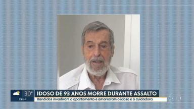 Idoso de 93 anos morre durante assalto no apartamento dele, na Consolação - Durante o assalto, o idoso e a cuidadora foram amarrados.Ele passou mal e acabou morrendo.