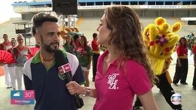 Tudo pronto para o desfile das escolas de samba de São Paulo - A escola Unidos de Vila Maria vai fazer um agradecimento à China em sua apresentação no sambódromo do Anhembi neste domingo