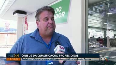 Ônibus da Qualificação: Prefeitura oferece cursos gratuitos às terças em Ponta Grossa - Interessados podem fazer inscrição nesta quinta-feira (27).