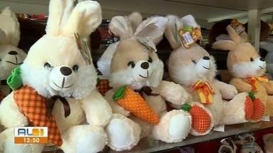 Após carnaval, Páscoa é foco para o comércio em Maceió - Vendedores apostam um aumento de 10% com produtos da Páscoa.