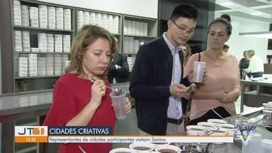 Santos recebe comitiva internacional da Unesco - Cidade vai ser sede da conferência anual das cidades criativas.