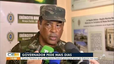 Governador quer que Governo Federal prorrogue tempo do Exército nas ruas no Ceará - Saiba mais em g1.com.br/ce