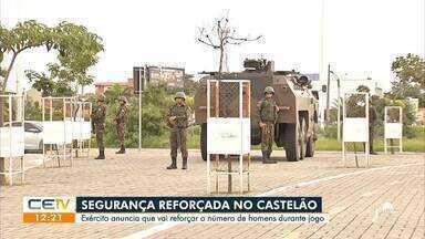 Segurança reforçada no Castelão para o jogo de hoje - Saiba mais no g1.com.br/ce