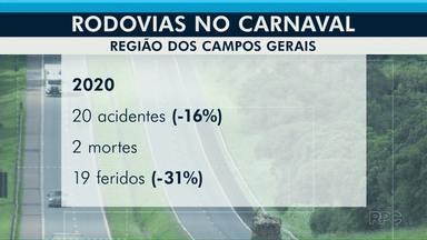 PRF divulga balanço nas rodovias neste feriado de Carnaval - Quantidade de feridos também reduziu neste carnaval em relação ao ano passado.