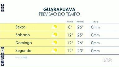 Guarapuava terá tempo firme nessa sexta-feira - Mesmo assim temperaturas serão baixas no começo do dia.