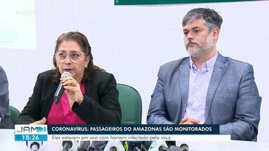 Coronavírus: Governo do AM monitora duas pessoas que voaram com paciente infectado - Governo do AM diz que monitora duas pessoas que estavam no mesmo voo que homem confirmado com coronavírus no Brasil