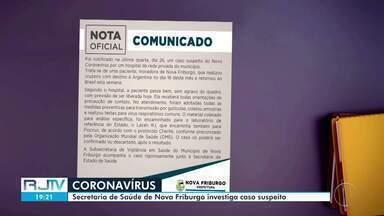 Secretaria de Saúde de Nova Friburgo investiga caso suspeito de coronavírus na cidade - A paciente é uma mulher que fez um cruzeiro para a Argentina.