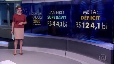 Contas do governo tem superávit de R$ 44 bilhões em janeiro - É o maior valor para o mês em 24 anos, segundo o Tesouro Nacional.