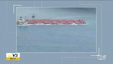 Ibama não descarta risco de vazamentos em navio encalhado com minério de ferro no MA - Comandante disse que ainda não é possível confirmar se não houve vazamento de óleo ou minério no oceano