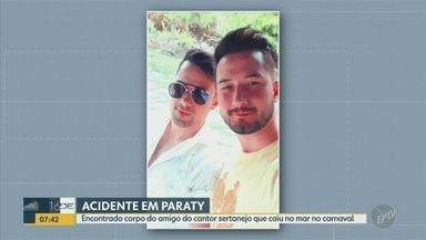 Encontrado corpo de amigo do cantor sertanejo morto no mar de Paraty - Rafael Rocha, de 31 anos, estava desaparecido havia três dias e foi encontrado na quinta-feira (27) boiando a 3 km da Praia do Cepilho, na região de Trindade.