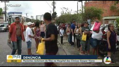 Pacientes reclamam de filas no Hospital das Clínicas Gaspar Viana - Pacientes denunciam de atendimento.