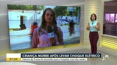 Criança de 3 anos morre após levar choque elétrico - Saiba mais em g1.com.br/ce
