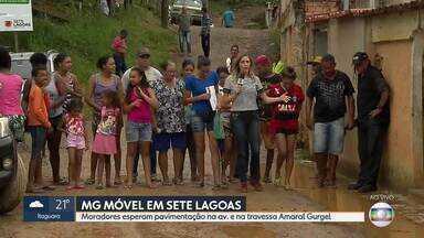 MG Móvel está no bairro Canadá, em Sete Lagoas - Moradores ainda esperam a conclusão das obras na avenida e na travessa Amaral Gurgel. É a oitava vez do MG Móvel no local.