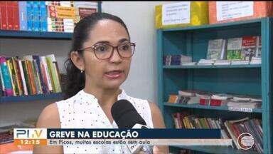 Greve continua e em Picos estudantes continuam sem aulas - Greve continua e em Picos estudantes continuam sem aulas