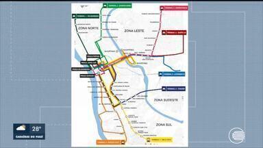 Terminais de integração da Zona Norte começam a funcionar e trânsito pode ficar lento - Terminais de integração da Zona Norte começam a funcionar e trânsito pode ficar lento
