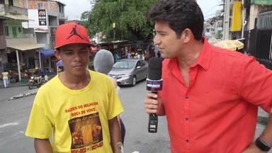 Alessandro Timbó vai às ruas falar sobre o otimismo do baiano - Alessandro Timbó vai às ruas falar sobre o otimismo do baiano