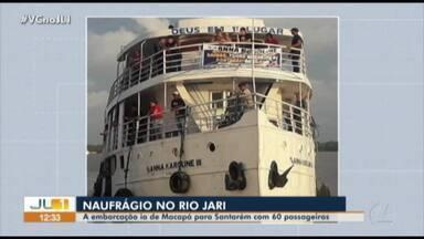 Navio com destino a Santarém naufraga no próximo ao Marajó, no Pará - Navio com destino a Santarém naufraga no próximo ao Marajó, no Pará