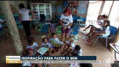 Moradora de Nazária cria escola de reforço para crianças carentes da região - Moradora de Nazária cria escola de reforço para crianças carentes da região