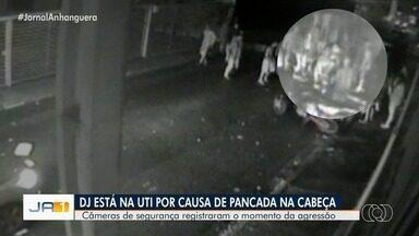 DJ segue internado em UTI de Goiânia - Ele foi agredido ao tentar apartar briga após festa; veja vídeo.