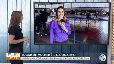 Novidade de 2020: Torneio feminino abre a Copa Rio Sul de Futsal - Competição reuniu 147 jogadoras e 24 integrantes de comissões técnicas, divididas em 13 equipes. Jogos foram realizados em Volta Redonda